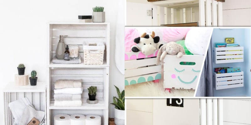 How to use crate to be part of your home decoration2