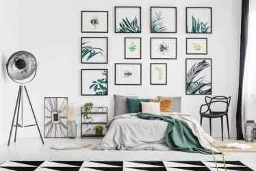 Bedroom-picture-wall-ideas