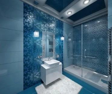 Idee-cabina-doccia-idee-design-bagno-porte-in-vetro-scorrevoli-mosaico-blu