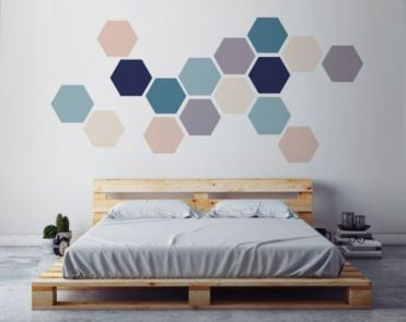 09-simple-geometric-wall-art-made-with-removable-hexagon-stickers