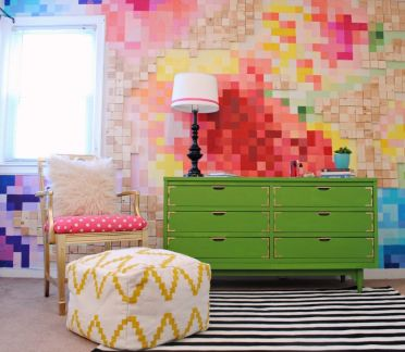 1-pixelated-floral-wall-and-kelly-green-campaign-dresser1-1024x891-1