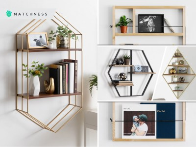 55 creative framed shelves for your unique wall decoration2