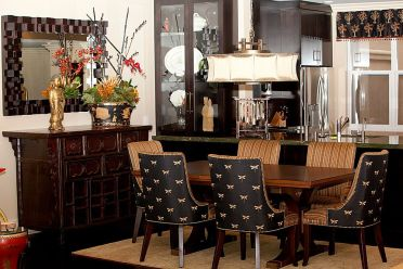 Asian-contemporary-dining-room-with-plenty-of-black