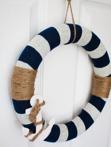 Diy-wreath-nautical-decor