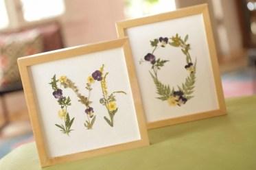 Framed-pressed-flower-initials