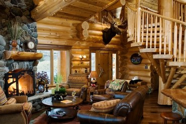Log-cabin-style-decor-idea