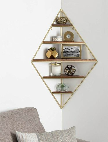 Corner-wall-shelf