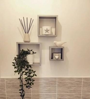 Gray-squares-bathroom-floating-shelf-doylefamilylife