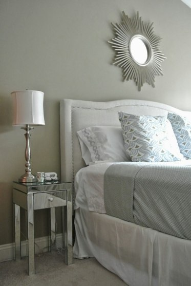 Mirrored-narrow-nightstand-bedside-lamp-bedroom-furniture-ideas