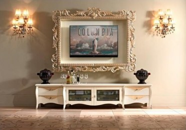 Tv-frame-ideas-ornate-frame-for-tv-wall-sconces-living-roon-furniture-ideas