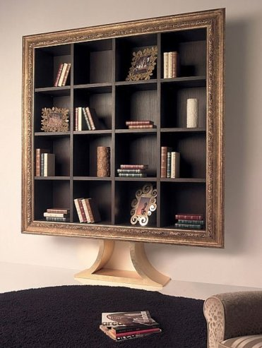 Unique-book-rack-ideas-picture-frame-wall-decorating-ideas-living-room-decor