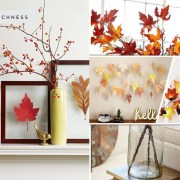 10 ideas to use maple leaf for your fall home decoration2