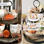 15 impressive fall tiered tray set ideas2