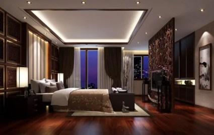 3-dark-hardwood-flooring-ideas-for-bedroom-with-pop-ceiling-designs