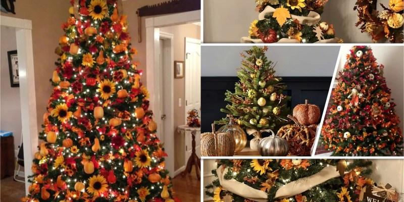 45 pretty autumn tree decorations2