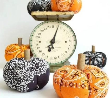 Diy-dollar-store-bandana-pumpkins