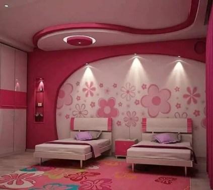 Latest-ceiling-designs-for-girls-bedroom