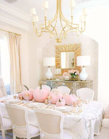 A-glam-fall-tablescape-with-gold-touches-and-light-pink-pumpkins-and-neutral-blooms-is-amazing