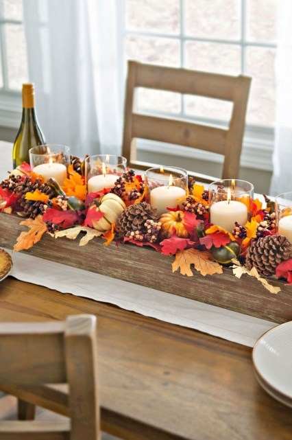 Diy fall door decor - 56 fall table centerpieces autumn centerpiece ideas