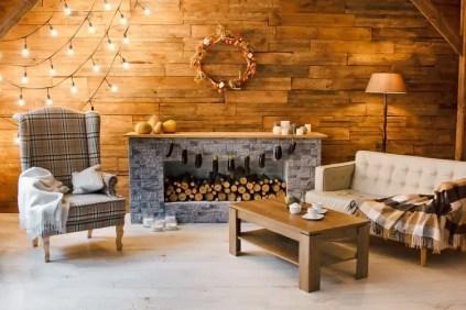 Fireplace-wooden-wall-mantel-decor-ideas