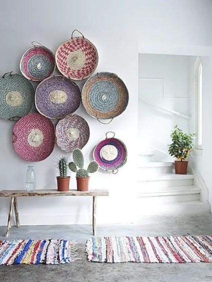Minimalist-baskets-wall-decor-for-bohemian-interior