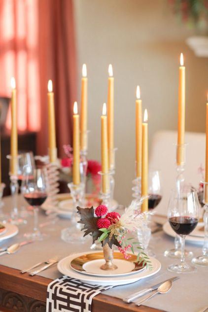Thanksgiving-decor-candles