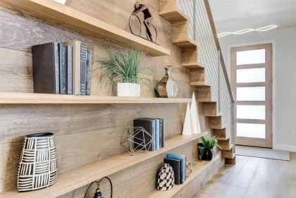 Under-stairs-decor-shelving