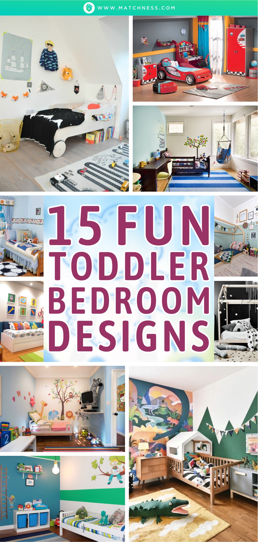 15 lustige Kleinkind-Schlafzimmer-Designs1