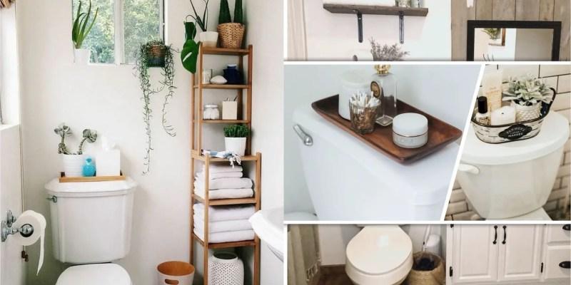 25 ideas to present toilet tank tray2