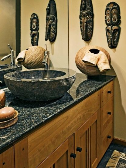 25-masks-on-the-wall-and-a-basket-used-for-holding-towels