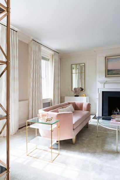 Blush-pink-sofa-beige-curtains-and-gold-side-table-living-room-design-ideas