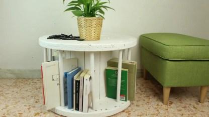Cable-reel-bookshelf