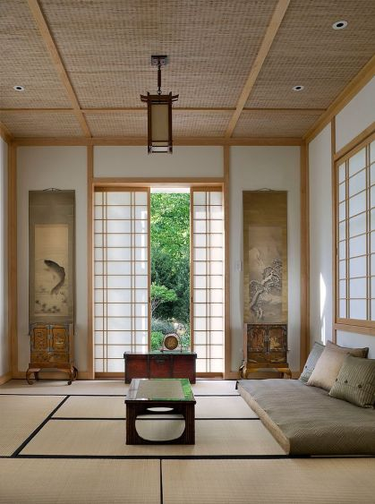 Japanische-Designelemente-sind-zu-einem-integrierten-Teil-des-modernen-Meditationsraums geworden