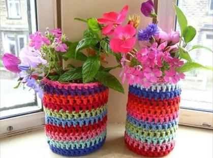 Garn-Blumen-Topf-Abdeckung