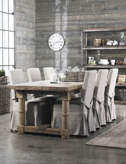 Dining-chairs-covers-ideas-rustic-dining-table-fabric-covers