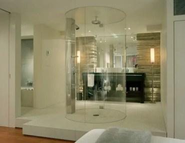Modern-round-walk-in-shower