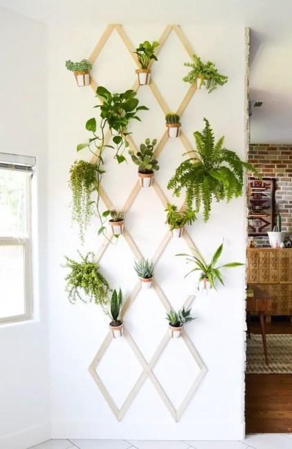 Holz-und-Leder-Wandbehang-Pflanzgefäß