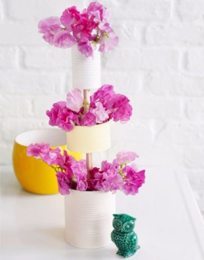 Diy-tiered-vase-of-tin-cans
