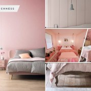 Decor variations to create soft pink bedrooms