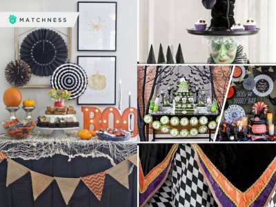 Spooky party set up for halloween celebration