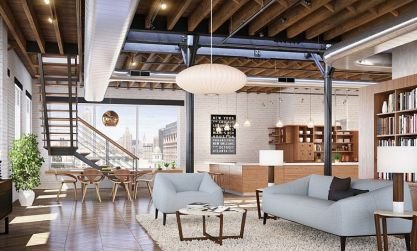 White-painted-brick-walls-add-to-the-drama-of-the-large-indsutrial-chelsea-loft
