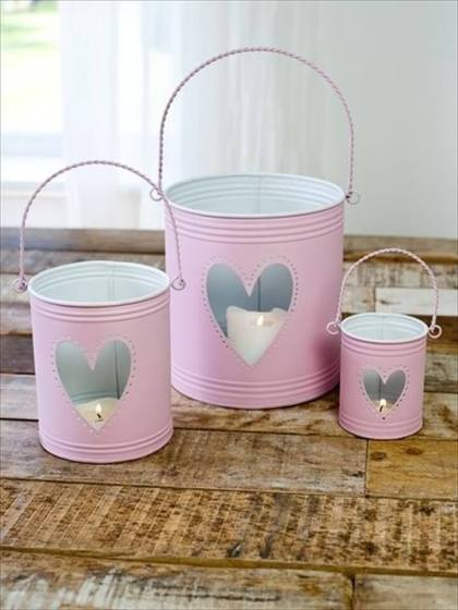 Heart-candle-tins