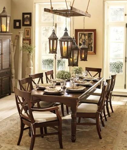 Lanterns-hanging-ladder-dining-table