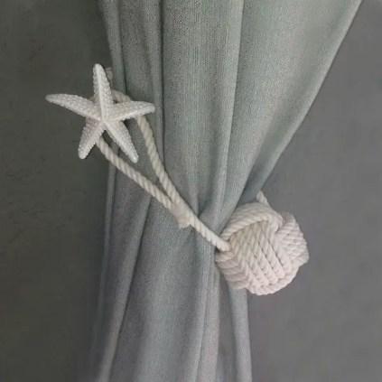 Seil-Handwerk-Ideen-Vorhang-zurückbinden-Seil-Seestern-nautische-Dekor-Ideen