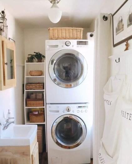 Gestapelte-kleine-Waschküche-das lang erwartete Zuhause