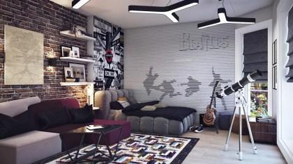 Teenage-boys-bedroom-hideaway-exposed-brick
