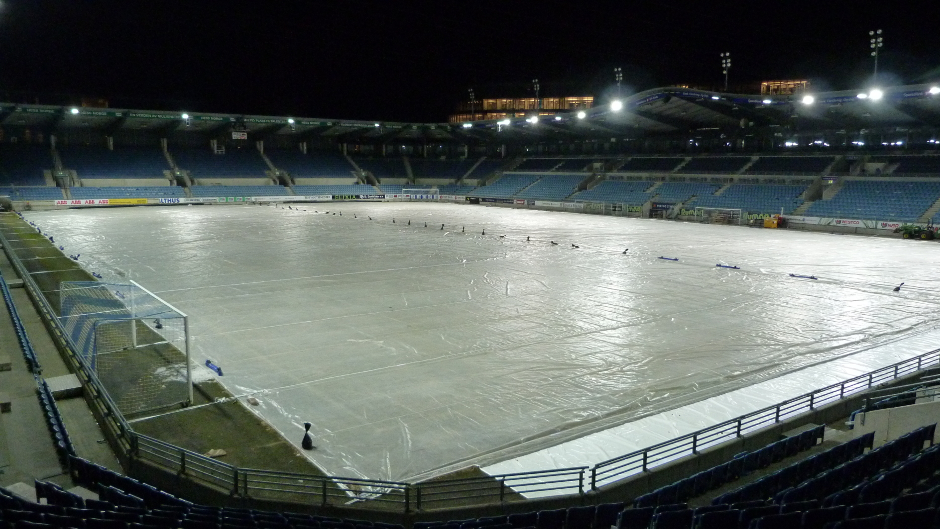 Viking Stadium Covered by Matchsaver Automated covers