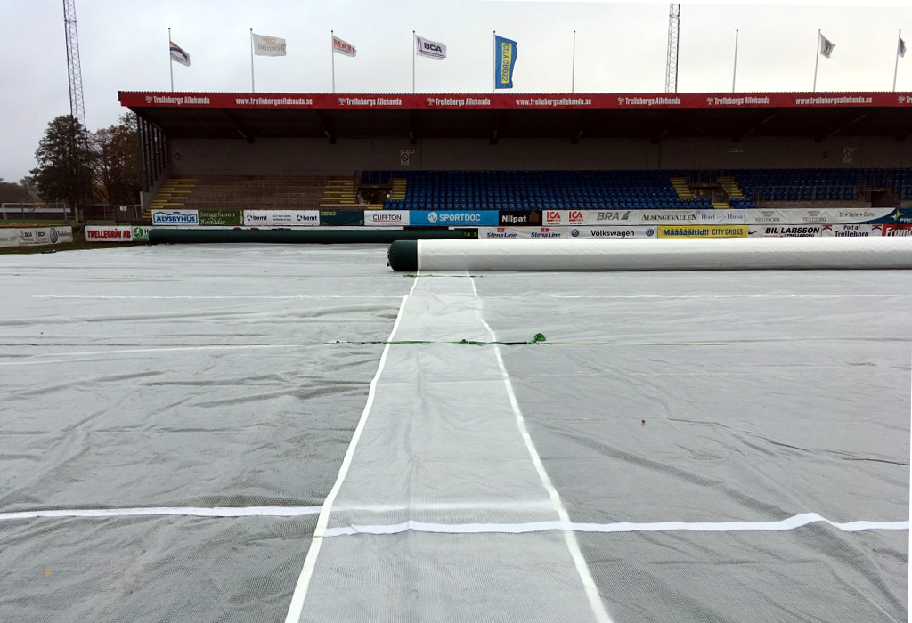 Matchsaver pitch protection covers at Trelleborg in Sweden