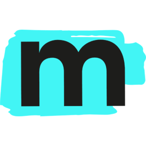 Matchstick Creative logo that features a letter M with a blue highlight strike behind it