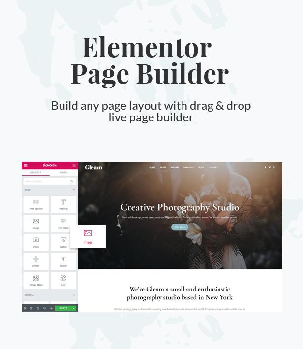 Gleam - Portfolio Photography WordPress Theme - 4